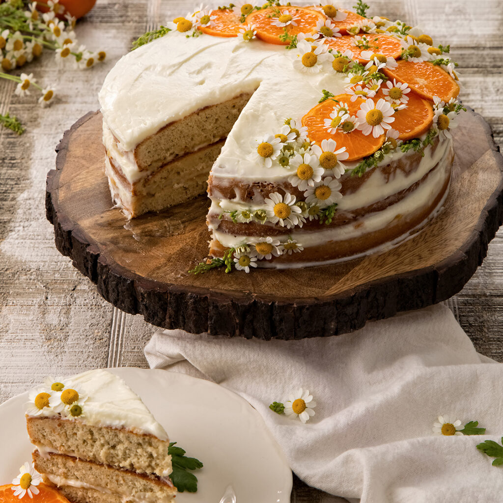 Tangerine Chamomile Cake