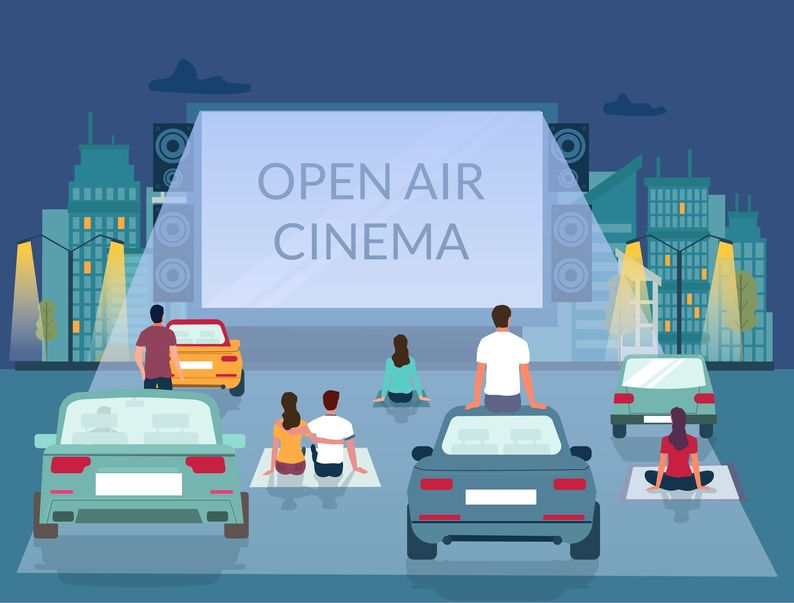 Drive-In and Open Air Movie Theater